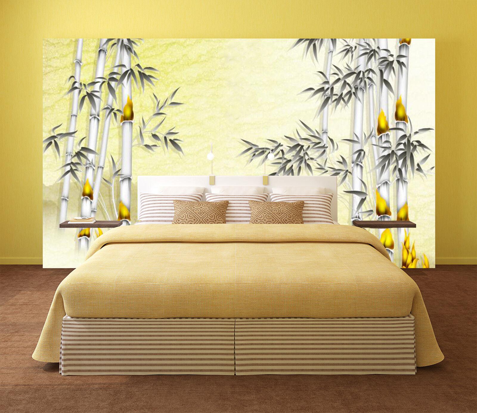 3D Bamboo Painting 8 Wall Paper Murals Wall Print Wall Wallpaper Mural AU Summer