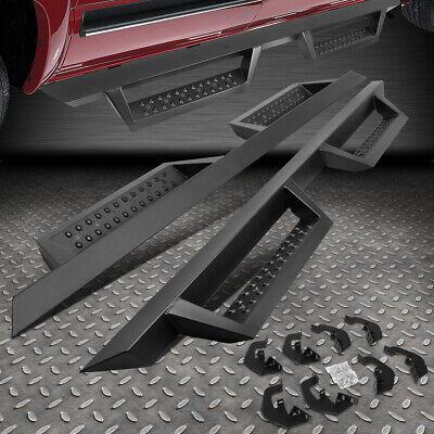 Pair 4.5 Running Board Side Step Nerf Bar for Chevy Silverado GMC Sierra 1500 2500HD 3500HD Crew Cab 07-18