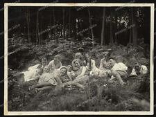 Stuttgart-Gruppenfoto-Frauen-Männer-Cute-German-Women-Man-Zöpfe-Pigtails-um 1930