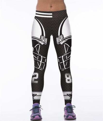 Women Fitness Leggings Team Dallas Cowboys Sport  Yoga Pants Gym Training Run3D