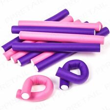 12 x Sleep-In Bendy Rollers Curly Hair Styling Waves Twists Curlers Salon Tool