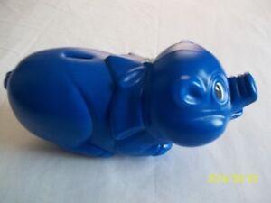 "Plastic Pig ""Piggy"" Bank, Blue"