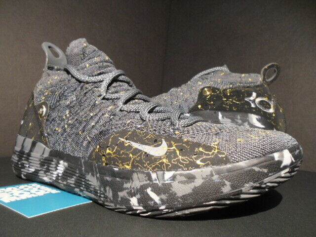 NIKE ZOOM KEVIN DURANT KD 11 XI oro SPLATTER MULTI-Color gris AO2604-901 10.5
