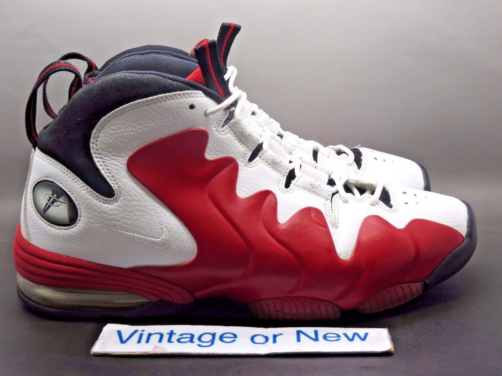 Nike Air Penny III 3 White Varsity Red Black 2010 sz 11