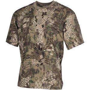 MFH-Hunting-Camouflage-Cotton-Top-Mens-Fishing-Hiking-Army-T-Shirt-Snake-FG-Camo