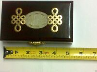 Jewelry Box Jade Wood Protects Precious Jewelries Rings, Ear Rings, Necklaces