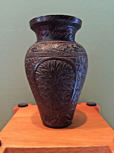 Antique-Asian-Chinese-Bronze-Vase