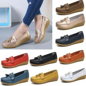 296b1a1acaa Image is loading Womens-Driving-Loafers-Moccasin-Oxford-Leather-Casual-Shoes -