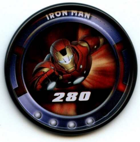 CA35 Iron Man #58 Of 84 Marvel Slingers 2011 Upper Deck Metal Rare Medallion