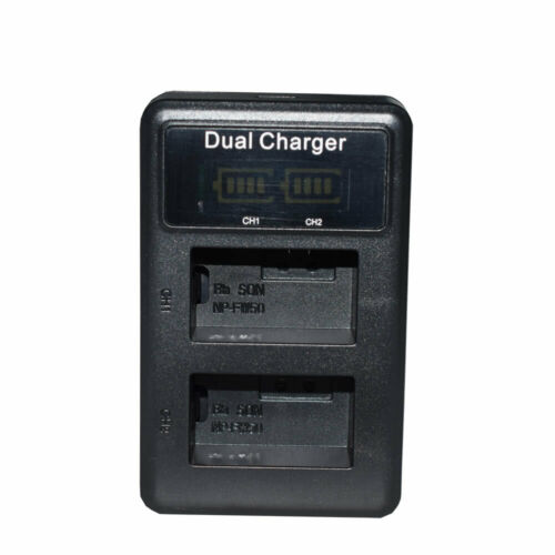 NP-FW50 LCD Cargador y 2 Batería Para Sony A6000L A6000Y A6300 A6300L A6500 A7 A7K