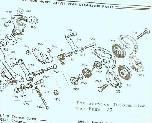 Huret #1912 Traverse Spring Allvit Rear Derailleur NEW old stock