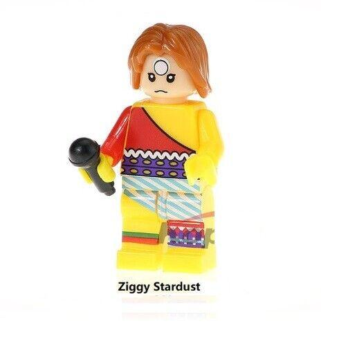 Ziggy Stardust Bowie G3 Custom Minifigure Gashapon LEGO Nuovo in Blister