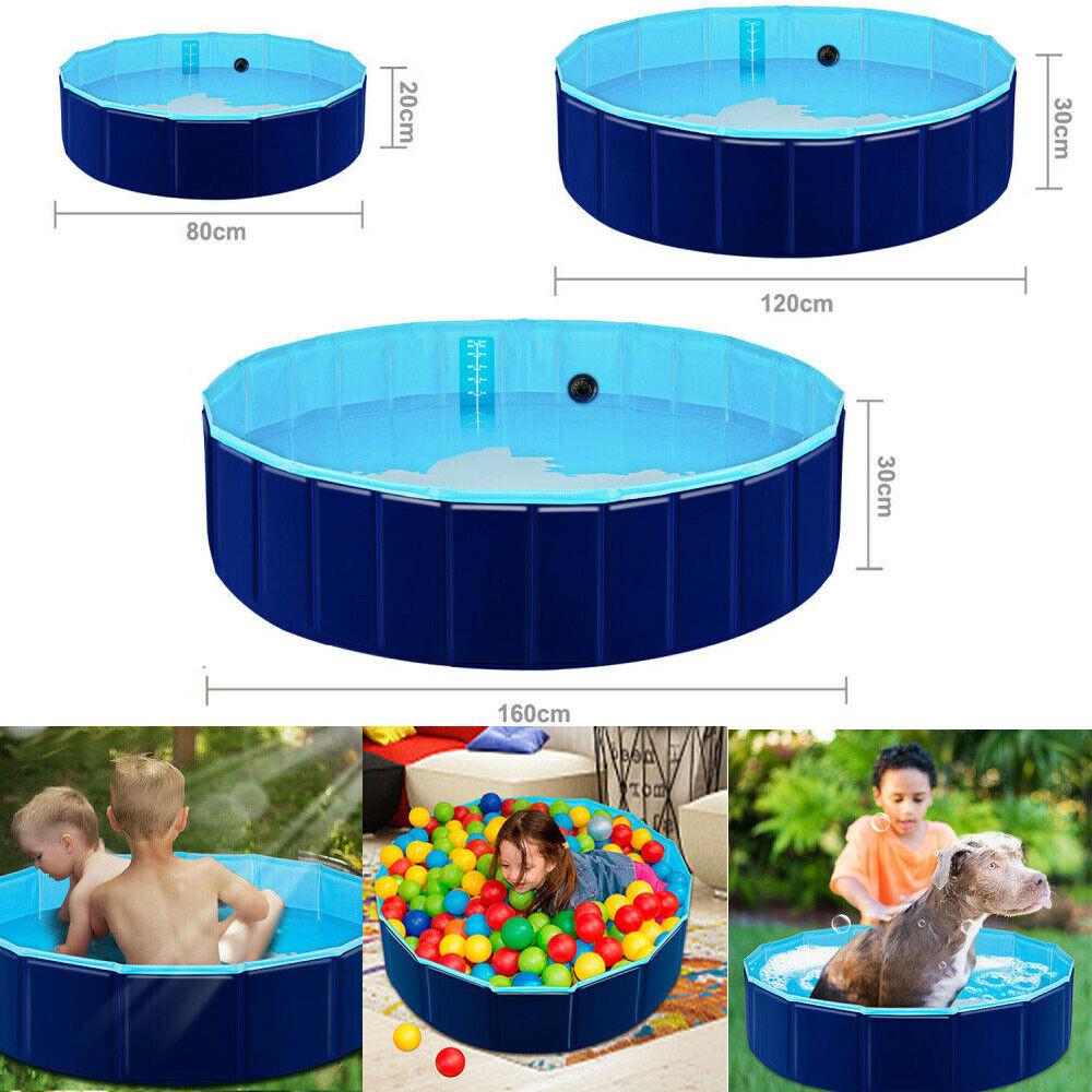 Profi Faltbar Hundepool Doggy Pool Swimmingpool Ø80//120//160cm Blau pool