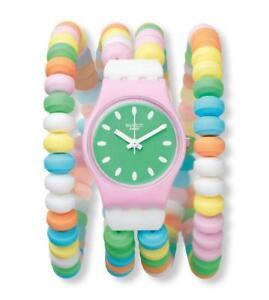 SWATCH-caramellissima-Reloj-lp135a-Analogo-plastico-de-colores