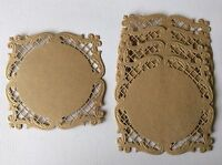Lacey Die Cut & Embossed Fancy Mats Ideal for Magnolia Tilda Saturated Canary x5