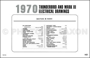 1970 mark iii and thunderbird original wiring diagram ford tbird t image is loading 1970 mark iii and thunderbird original wiring diagram