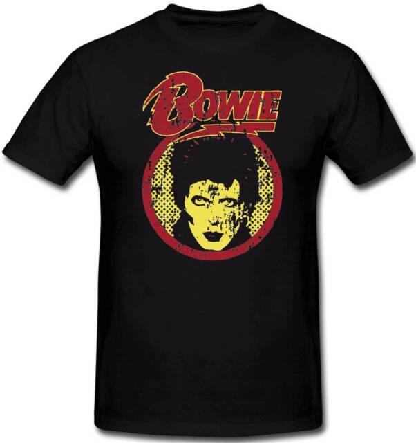 David Bowie Retro 70's Rock Glam T Shirt