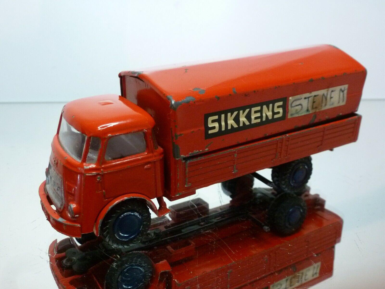 LION CAR DAF A50 TRUCK KIKKER - SIKKENS PROMO - rosso 1 50 - GOOD CONDITION