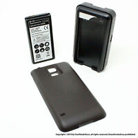 6500mah Extended Battery For Samsung Galaxy S5 Sv I9600 Black Cover Charger on sale