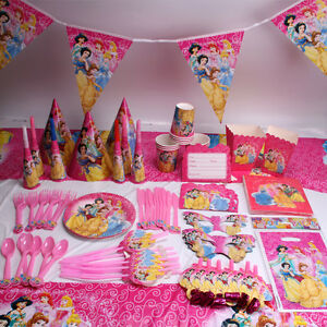 acda7a23842 Image is loading Princess-Girls-Birthday-Party-Supplies -Favor-Kids-Tableware-