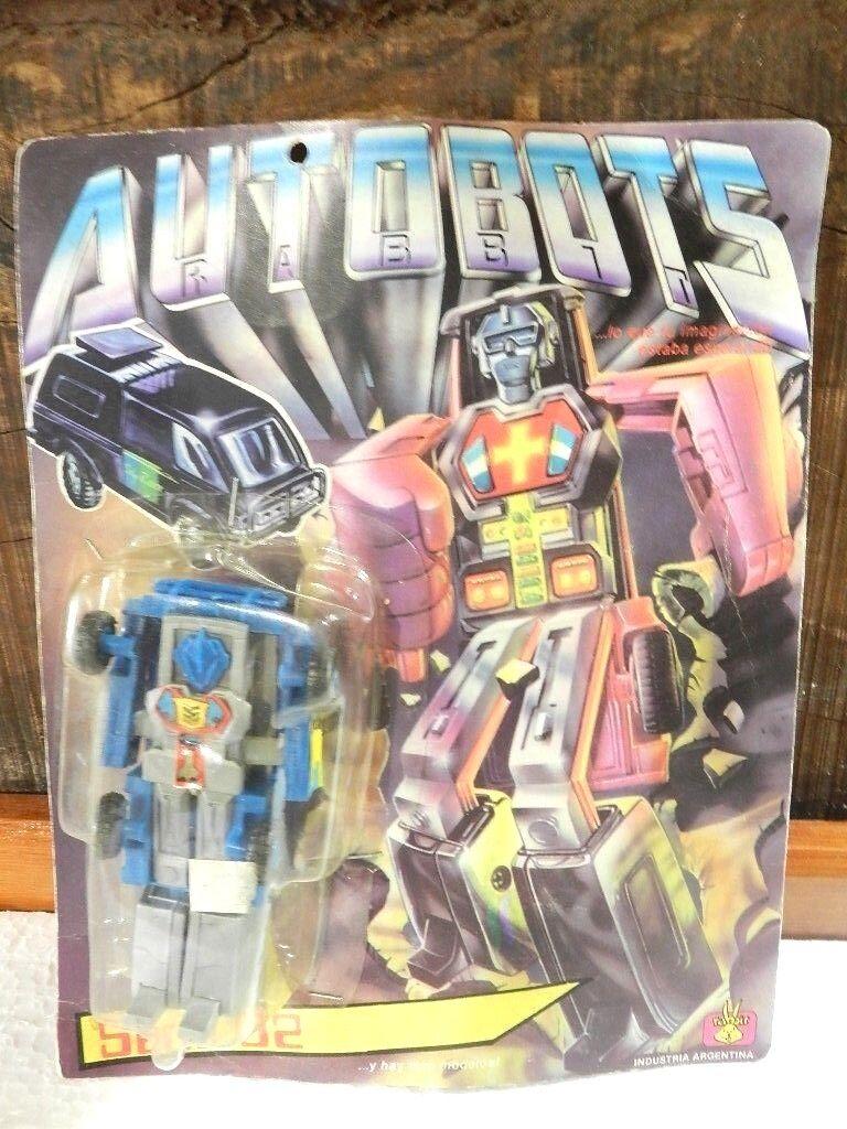 Vintage Robots Tranformers Autobots tráfico serie 02 Marca Conejo plataina 80'