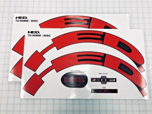 HED 70-90 mm Rouge//Noir Jante Roue Décalque//Autocollant 9//Disque pour 1 ROUES