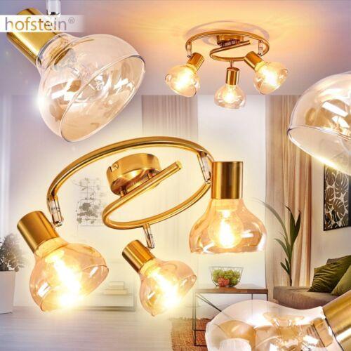 verstellbare Decken Lampen 3-flammig Wohn Schlaf Raum Küchen Strahler goldfarben