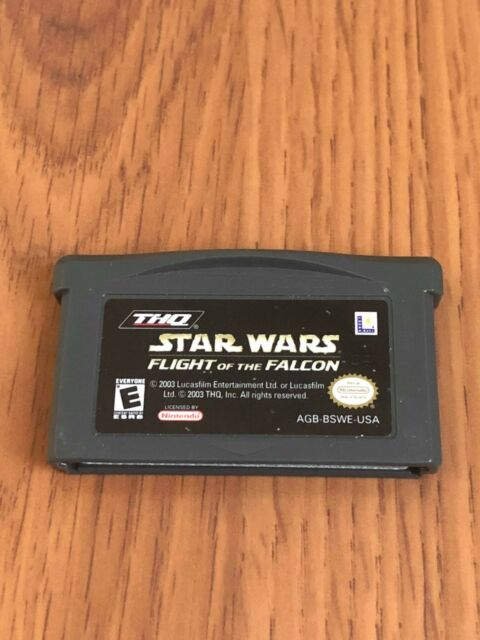 Star Wars: Flight of the Falcon (Nintendo Game Boy Advance, 2003) Cart Only!