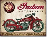 Indian Scout Tin Sign, New, Free Shipping on sale