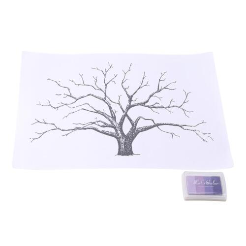 Thumbprint Fingerprint Tree Wedding Guest Book Guestbook Alternative Memory H
