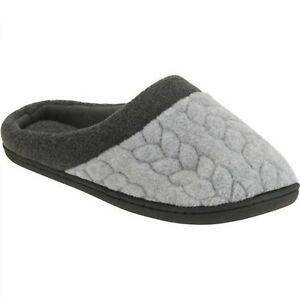 f1f19467a4948 DF by Dearfoams Women s Quilted Fleece Clog Slipper SIZE M --R3--