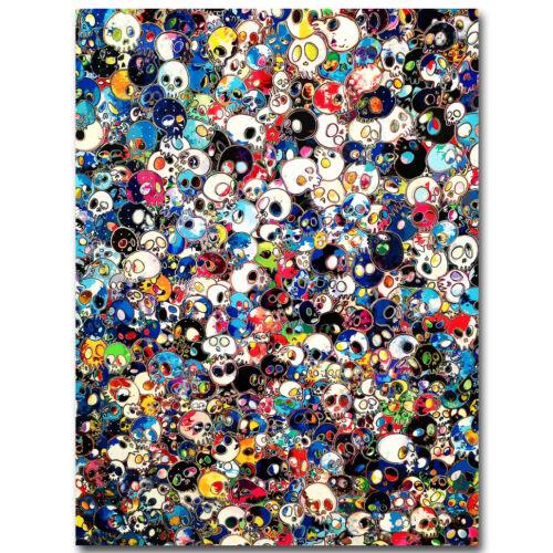 Takashi Murakami Japanese Pop Art Silk Poster 13x20 24x36 inch Trippy Skull