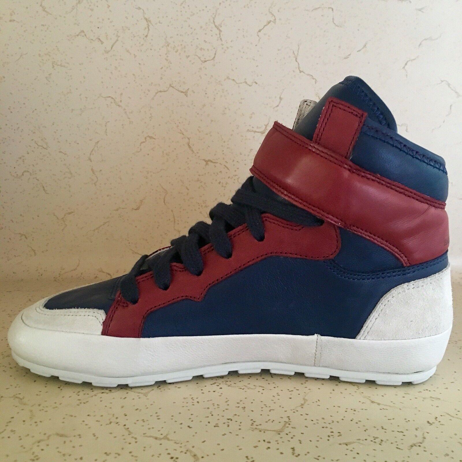 es 6 nos nos nos Isabel Marant Bessy Hip Hop Azul Rojo Zapatillas De Ante De Cuero b9ad6a