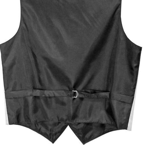 New polyester Men/'s Solid Wedding Vest Tuxedo Waistcoat /& Necktie Black prom
