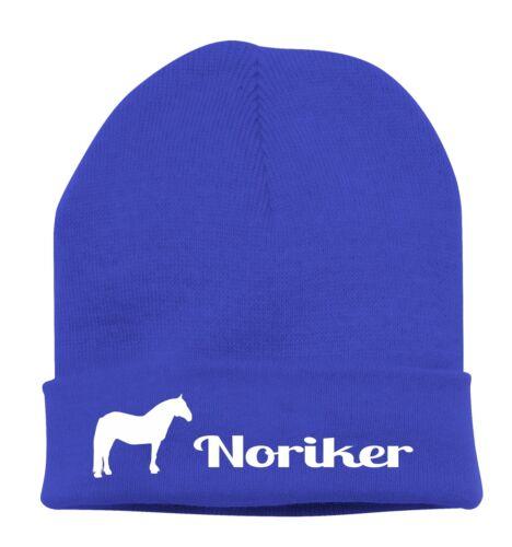 BERRETTO lavorato a maglia Beanie cavallo Stick Motivo cavalcare Noriker siviwonder