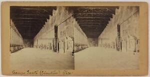 Pisa-Camposanto-Cimitero-Italia-Foto-Van-Lint-Stereo-Vintage-Albumina-c1865