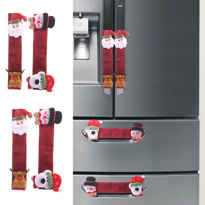 Christmas Decor Fridge Door Handle Covers Oven Dishwasher ...