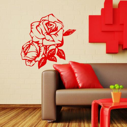Wandtattoo Rose Love Liebe Blume Flower 127+