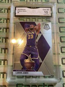 2019-20 Panini Mosaic LeBron James LA Lakers GMA 10 GEM MINT psa Bgs Sgc Invest