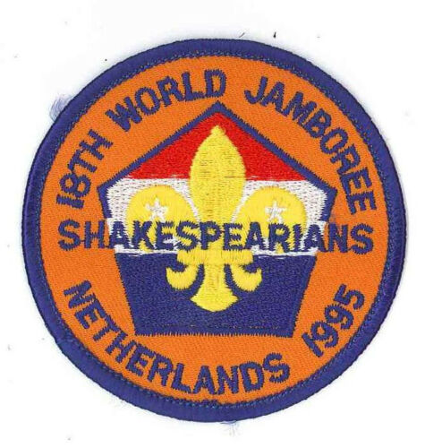 1995 World Scout Jamboree BRITISH UK SHAKESPEARIANS SCOUTS Contingent Patch