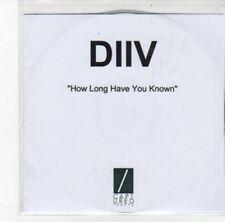 (DJ781) DIIV, How Long Have You Known - DJ CD
