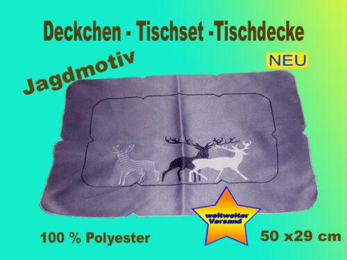 Deckchen Decke Jagdmotiv  NEU Tischset Sofakissen Kissenbezug Kissenhülle