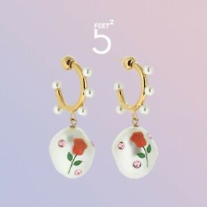 safsafu Candy rose Jelly Beans Pearl Gemstone Earrings
