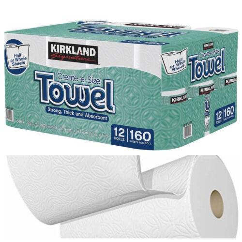 White 2-Ply 160 Sheets 12 Pack Kirkland Signature Premium Big Roll Paper Towels