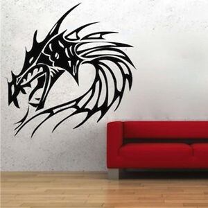 Image Is Loading Fire Dragon Wall Decal Asian Culture Wall Vinyl