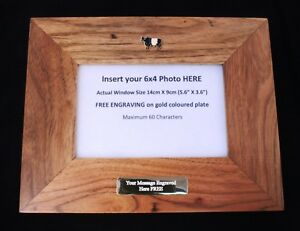 Belted-Galloway-Wooden-Photo-Frame-6-x-4-Landscape-or-Portrait-Farming-Gift