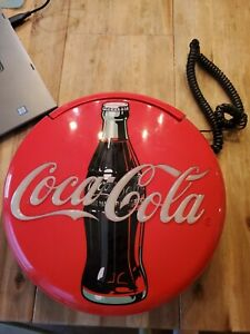 Coca Cola Coke Blinking Light Up Disc Telephone 12 inches