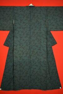 Vintage Japanese Silk Antique BORO KIMONO Kusakizome Dyde Textile/VQ58/570