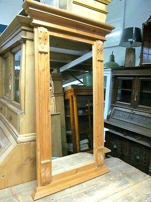 Weichholz Garderobenspiegel, Wandspiegel, Spiegel ,Massivholz
