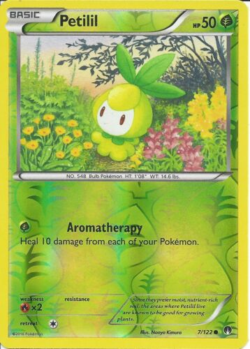 PETILIL 7//122 REV-ERSE HOLO POKEMON CARD XY BREAK-POINT